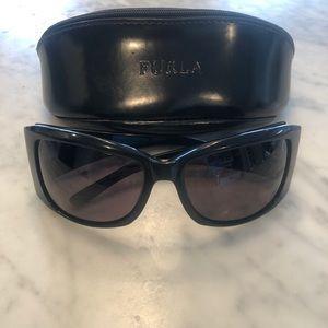 Furla Black Oversized Sunglasses